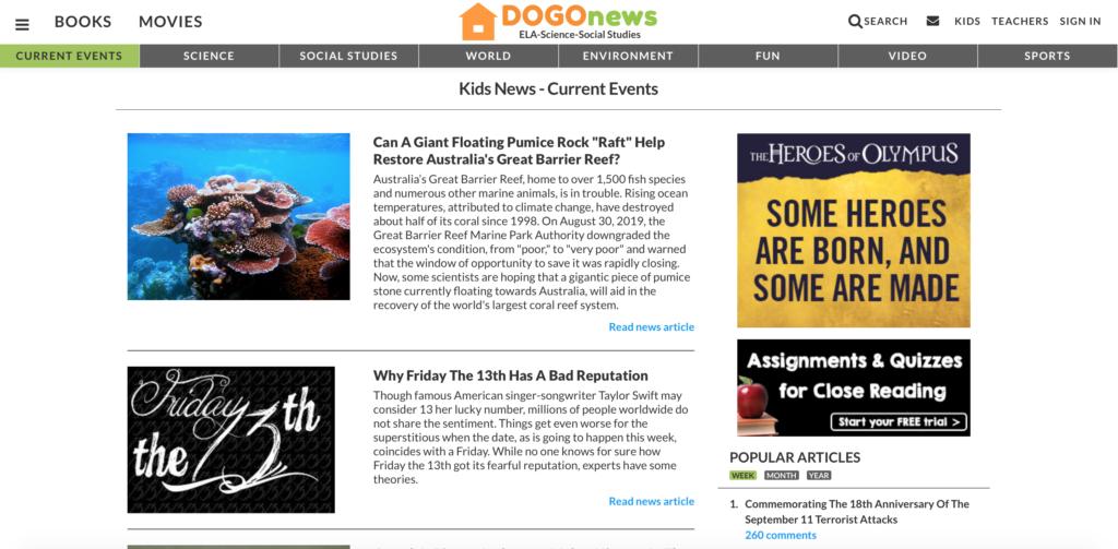 Dogo news 子供向け英語サイト
